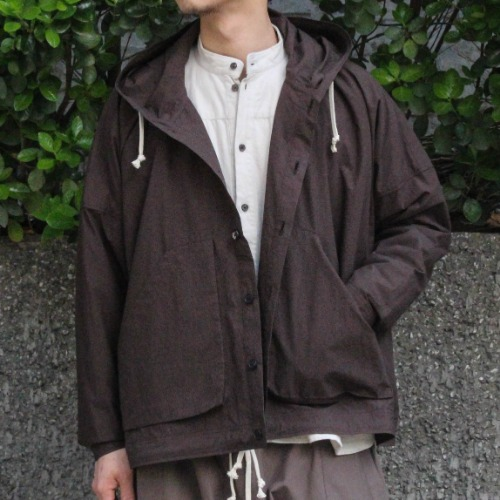 HOODED JACKET_D.BROWN
